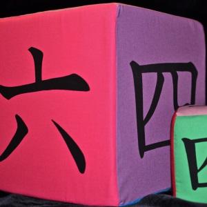 Giant Kanji Foam Dice